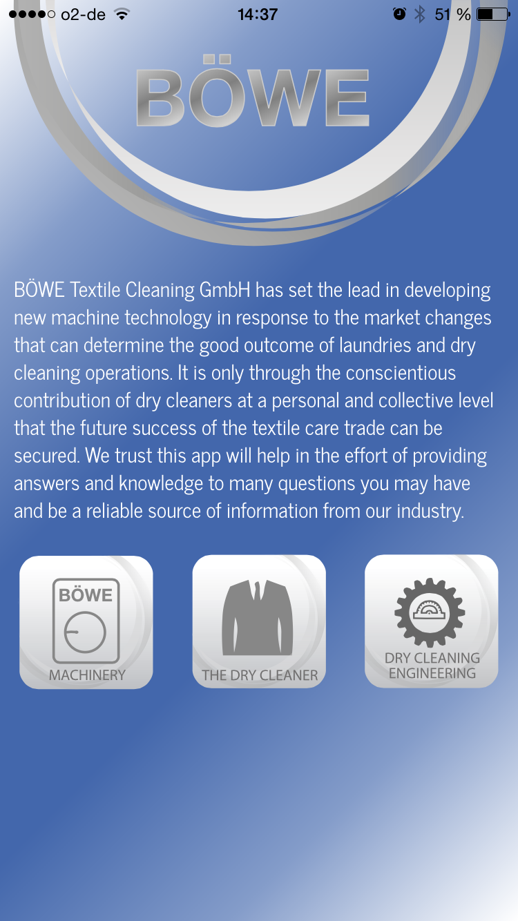 BÖWE Textile Cleaning GmbH - BÖWE App